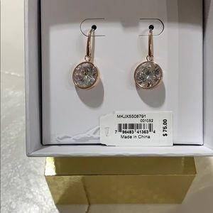 Michael Kors dangly crystal earrings
